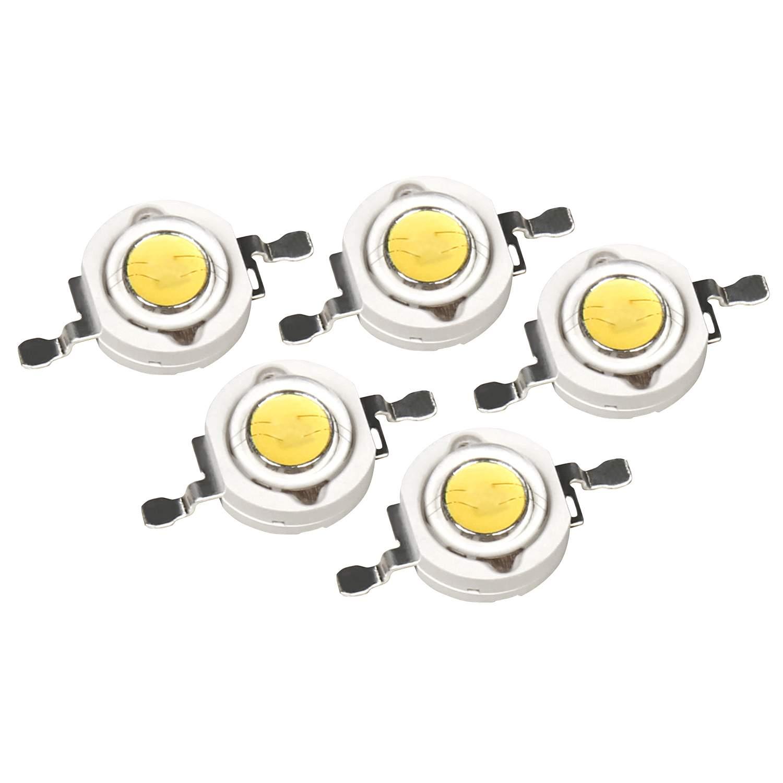 High Power LED Bauteil 5er Set 3W warmweiss 2