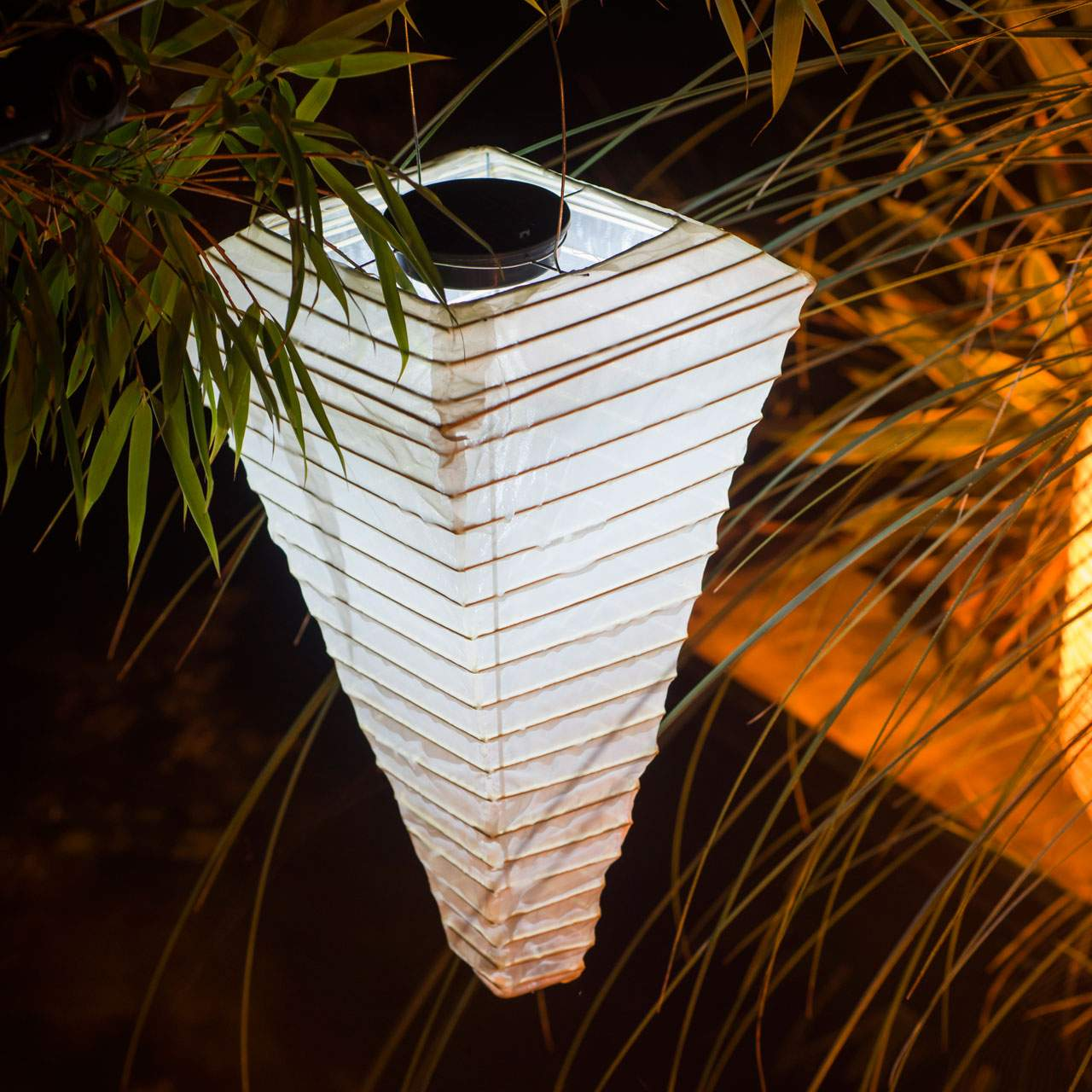 Solar LED Laterne 40cm sandhell 1