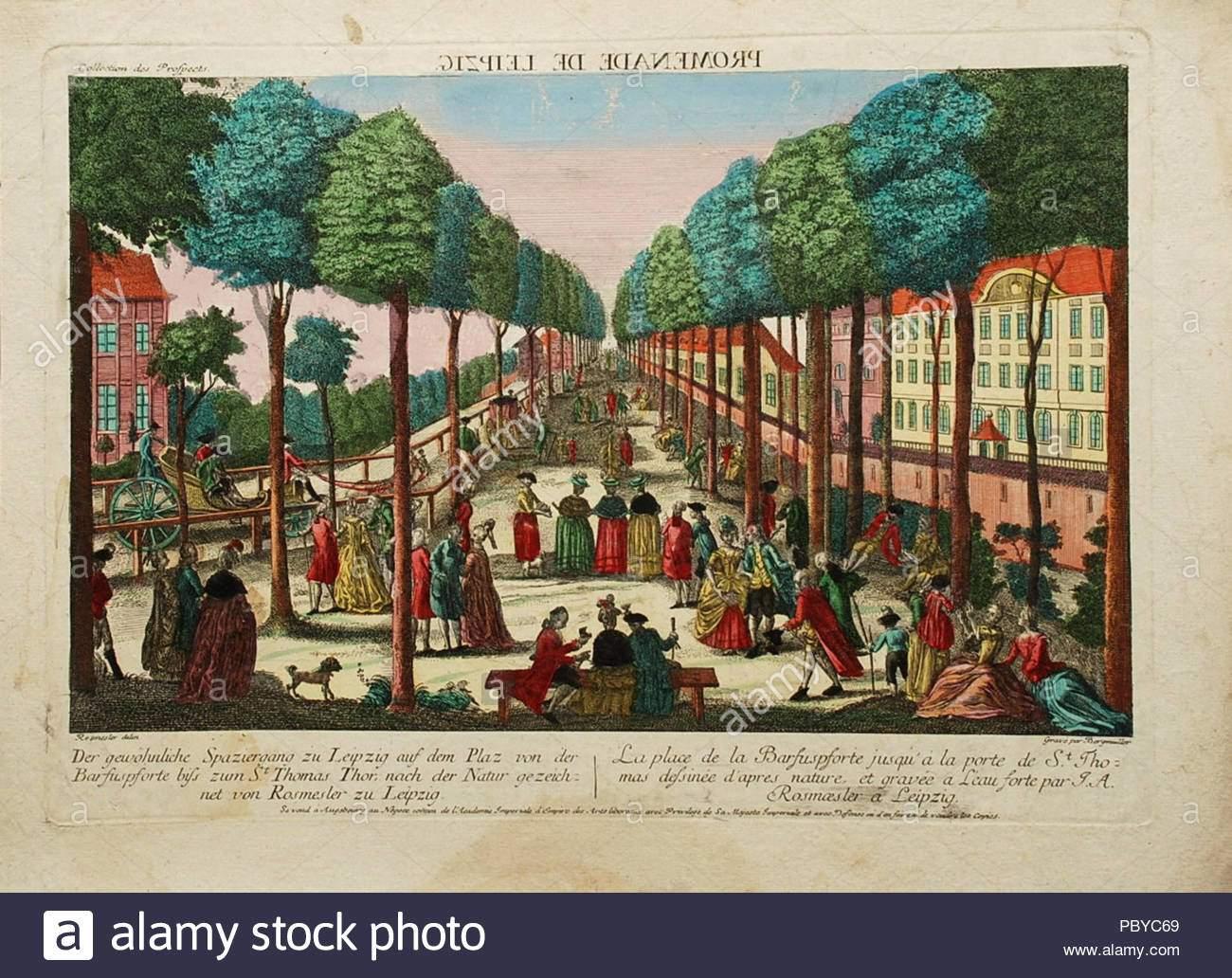 162 esplanade in der peters vorstadt zu leipzig vor 1780 sterben pbyc69