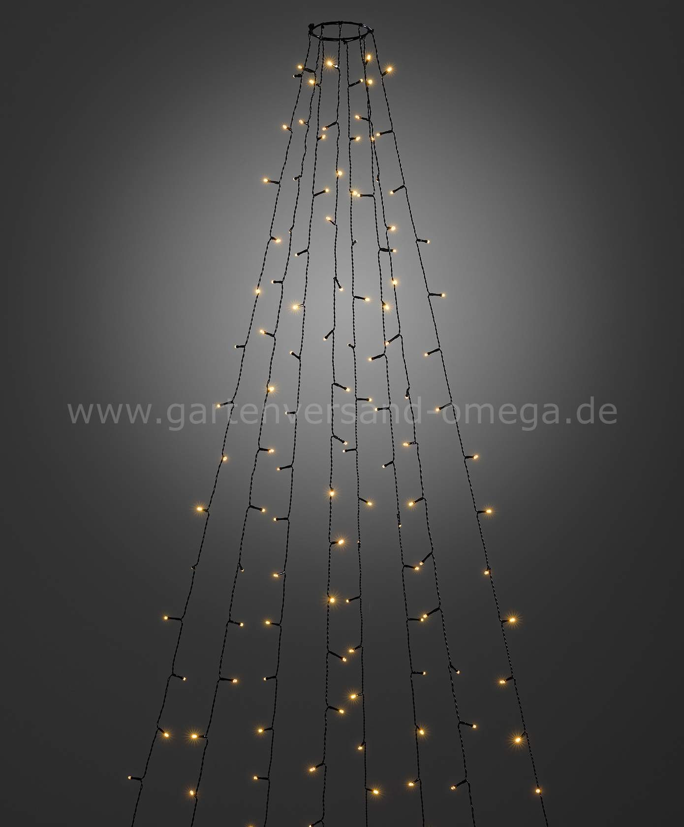 LED Baummantel Lichterkette fuer Aussen mit Glimmereffekt