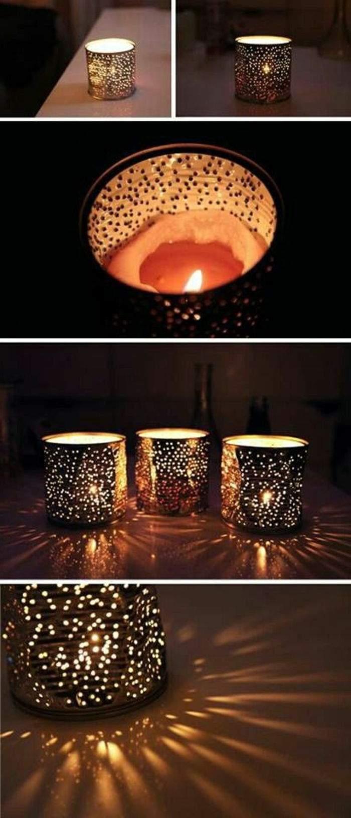 teelichter basteln konservendose mit l C3 B6cher kerze kerzenlicht diy deko