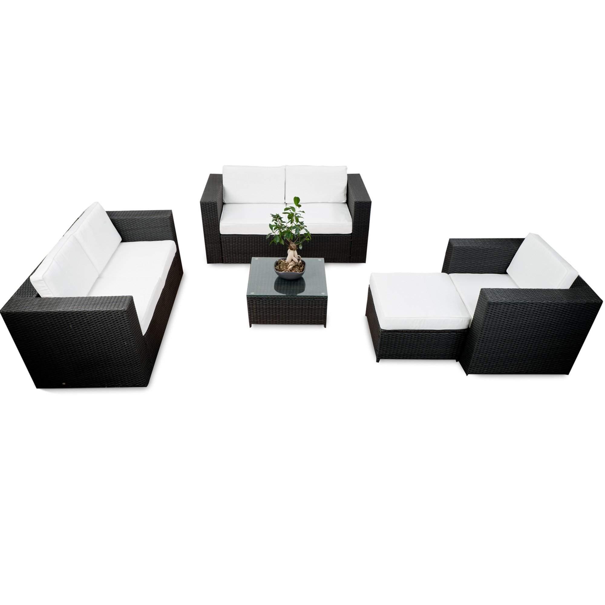 lounge set rattan xxl 17 tlg anthrazit