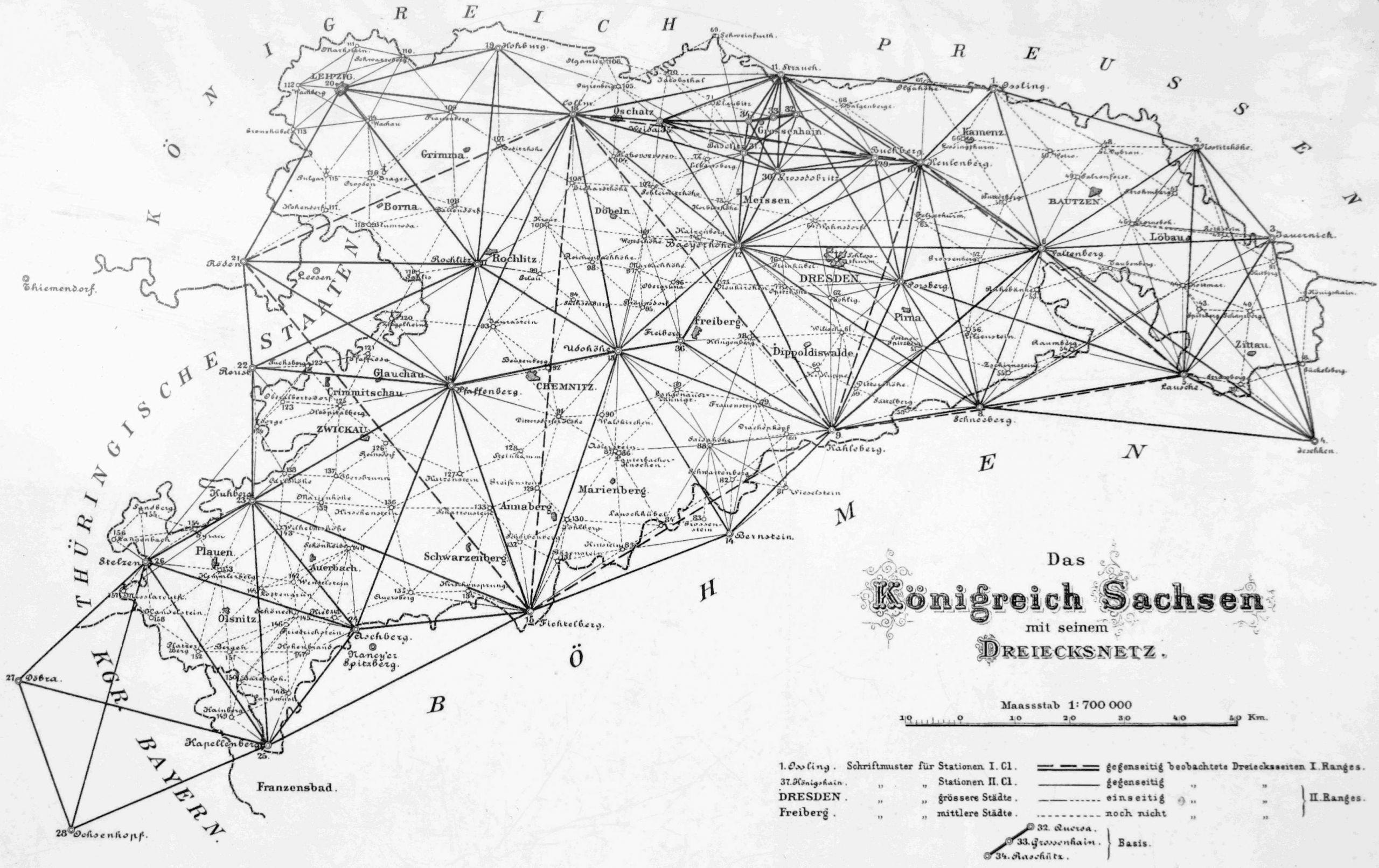 Dreiecksnetz sachsen