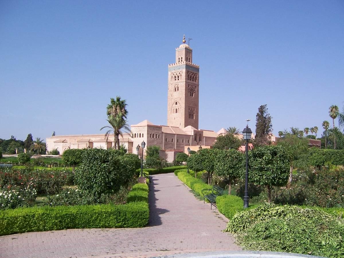 MoroccoMarrakech Koutoubia mosqueFromGarden1