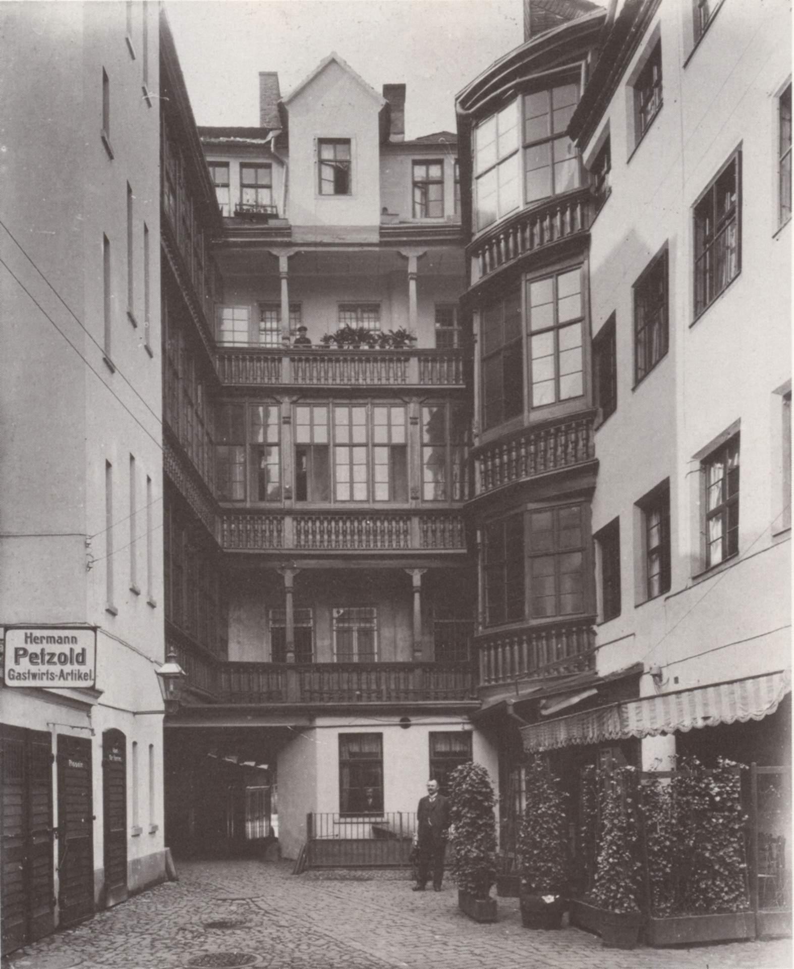 Griechenhaus Katharinenstrasse 4 Leipzig 1890