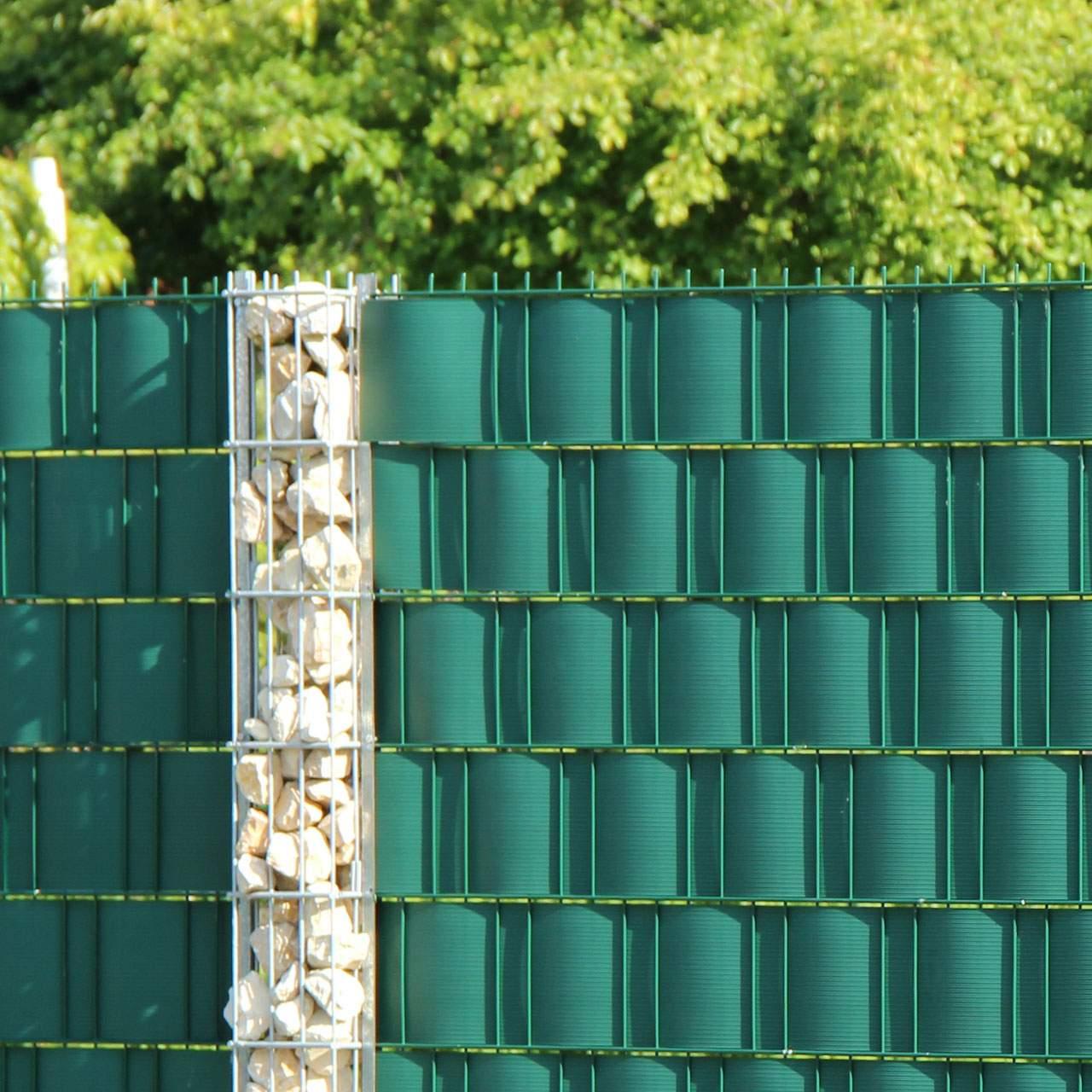 V Sichtschutzstreifen Hart PVC Longlife gruen 4