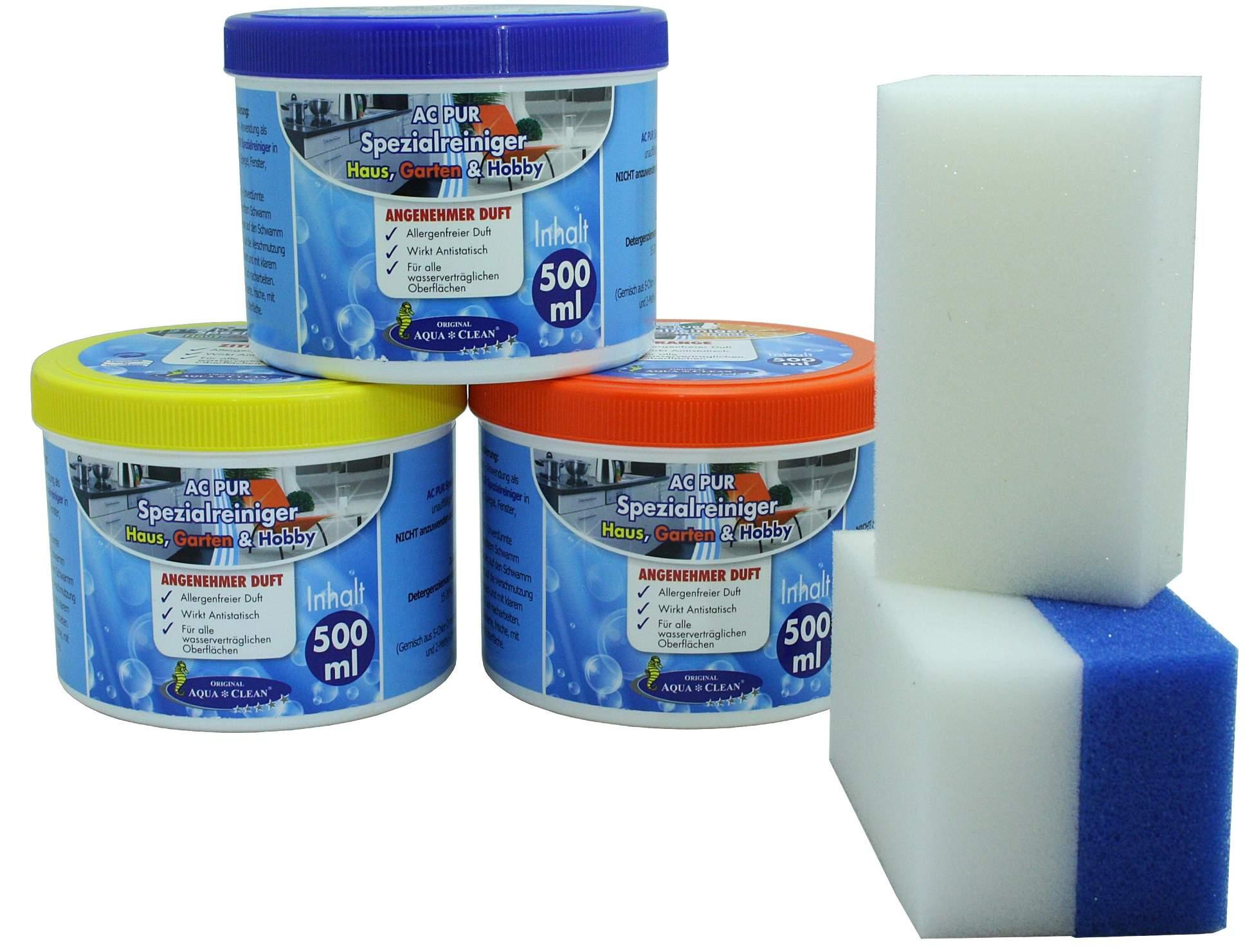 aqua clean pur spezialreiniger 3tlg