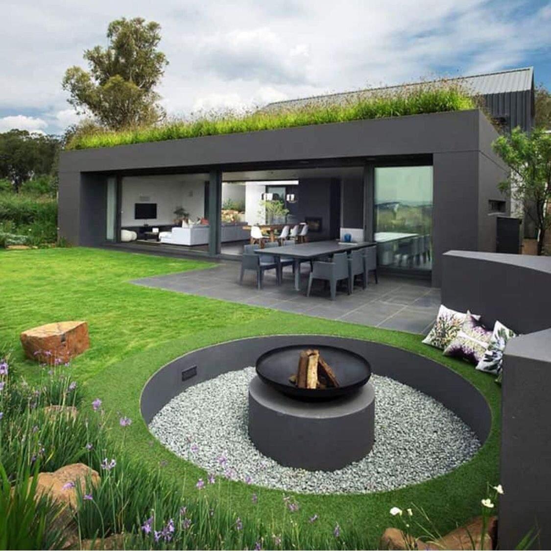 Moderne Feuerstelle Im Garten Frisch Senkgarten Und Feuerstelle