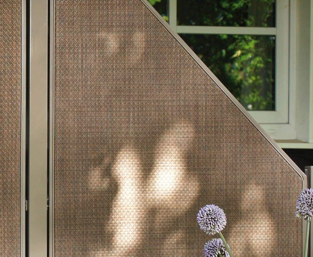 Sichtschutzwand Weave Luex Textil Bespannung 178 88cm bronze 18f1OqIgTNhudg