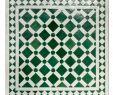 Mosaiktisch Garten Einzigartig Mosaiktisch 60x60 Grün Weiss Glasiert