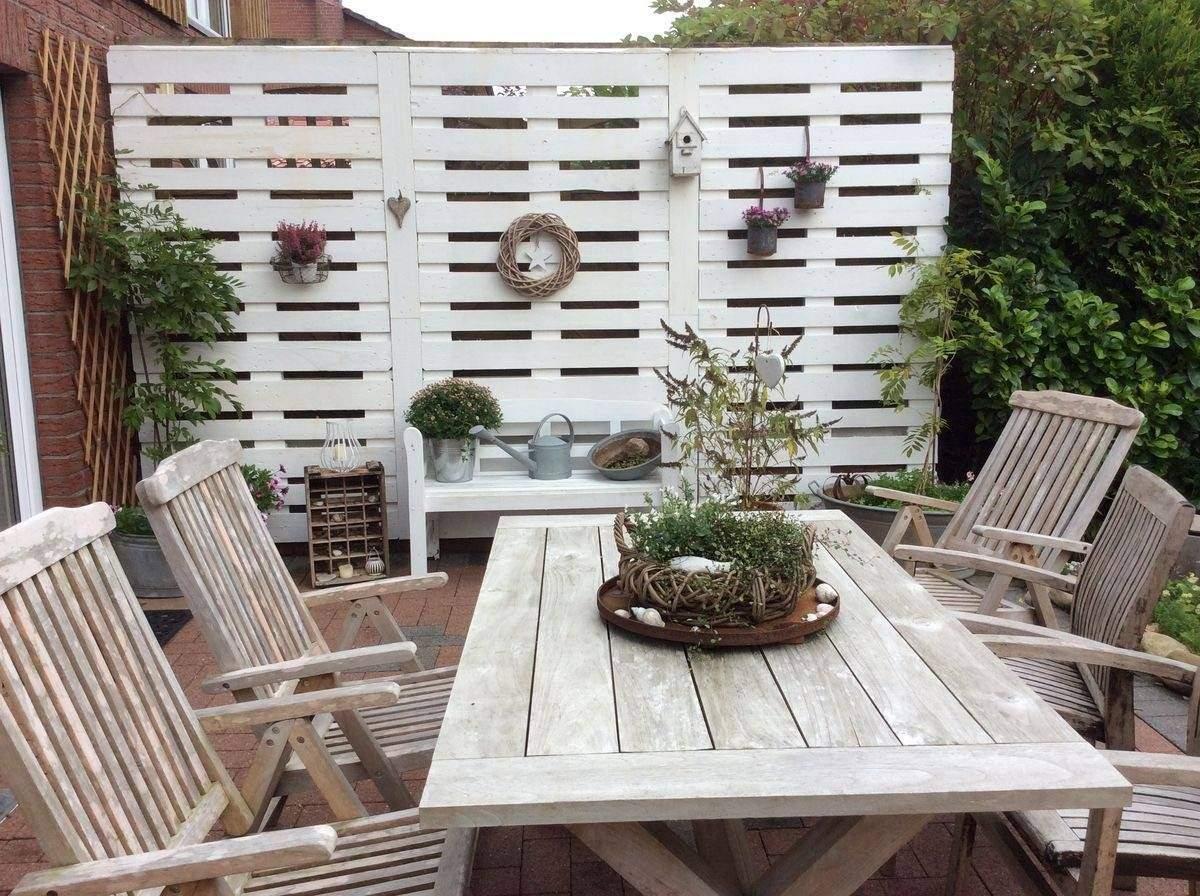 Paletten Ideen Garten Genial Wunderschönen Sichtschutz Aus Paletten ist Der