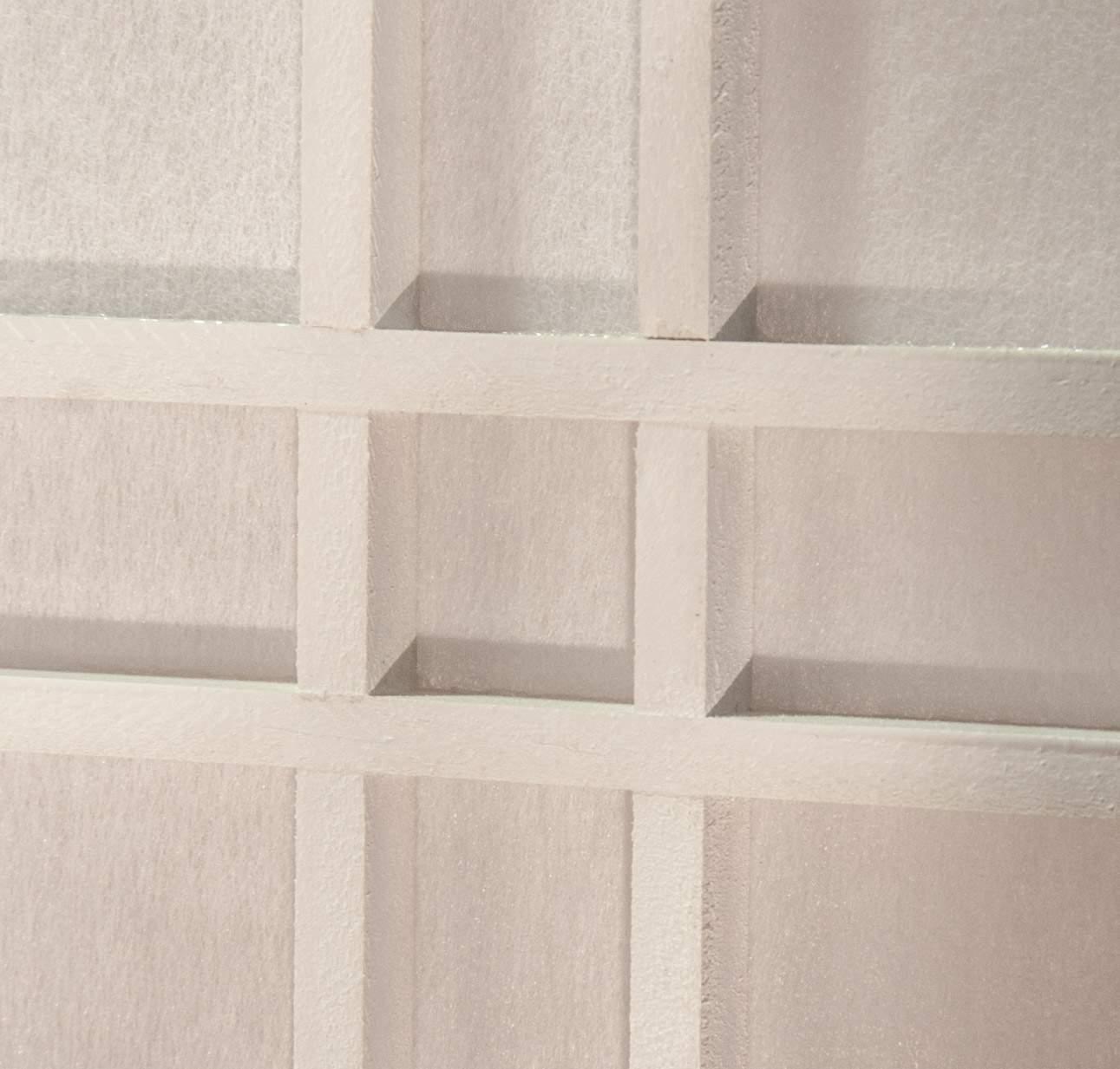 paravent doublecross weiss detail 1