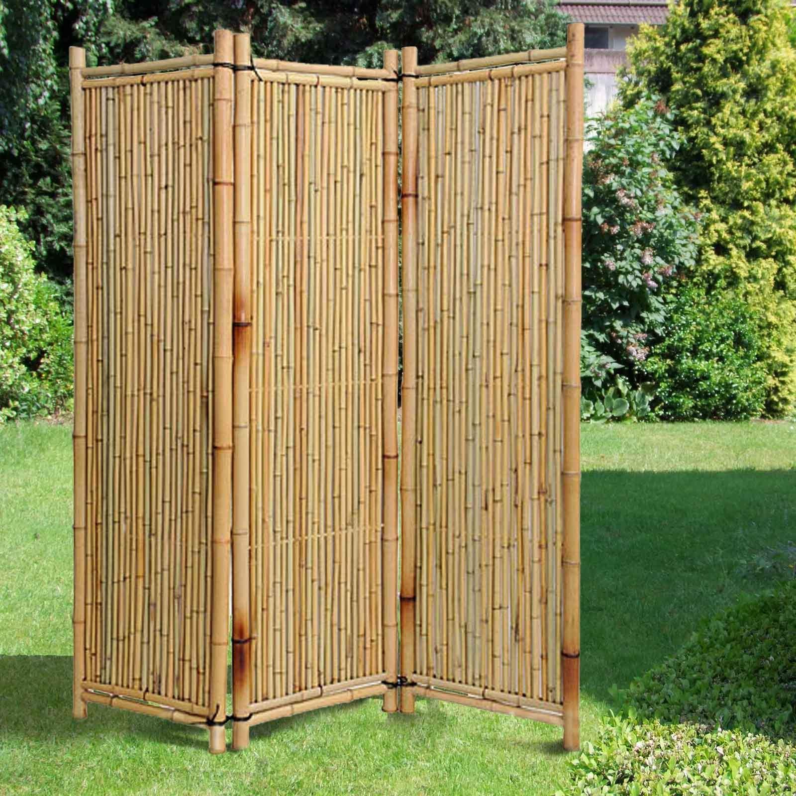 Paravent Garten Schön Bambusparavent Deluxe Natur Noor