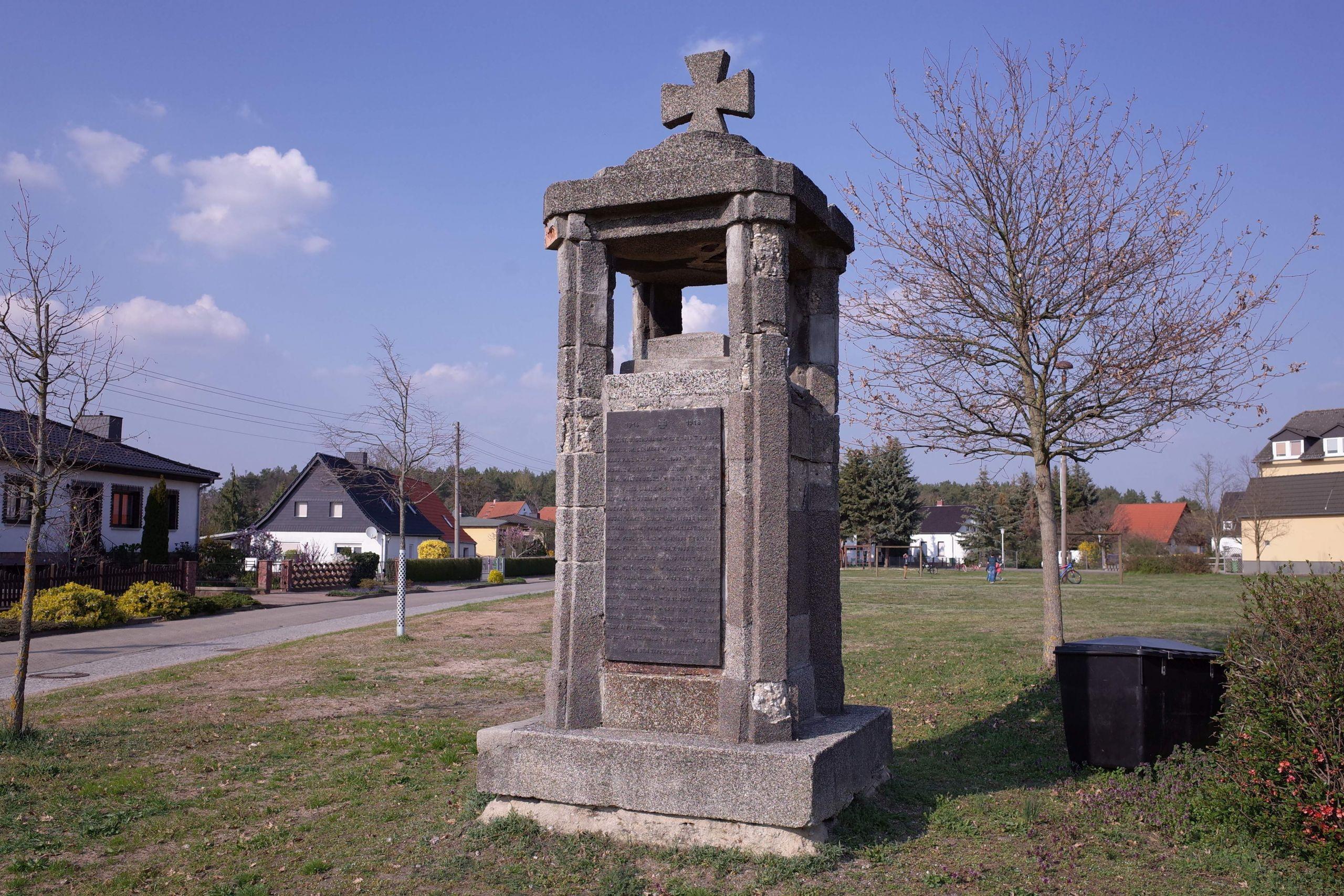 Coswig Anhalt Klieken Denkmal 1914 18 2