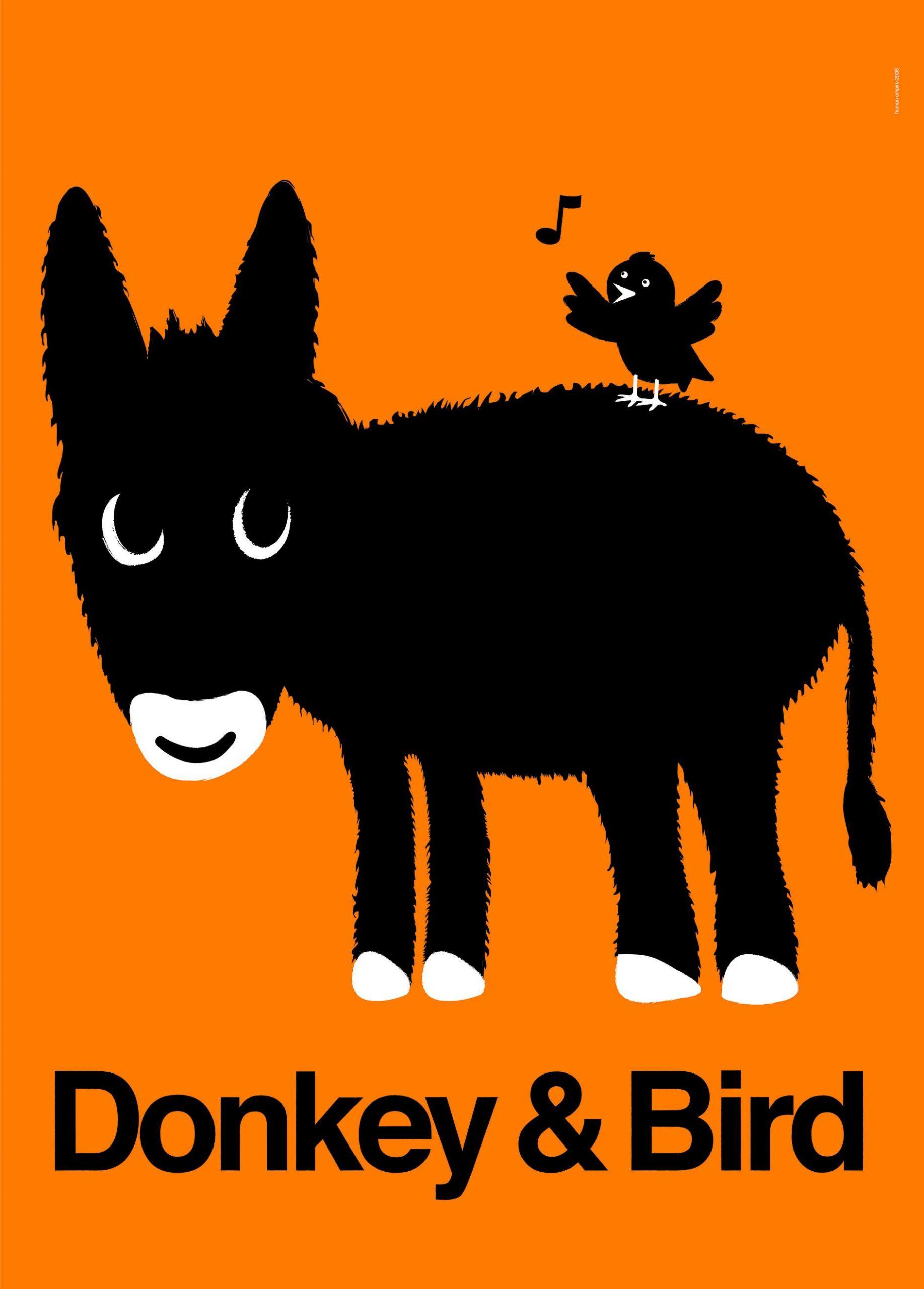 donkey bird poster cmyk