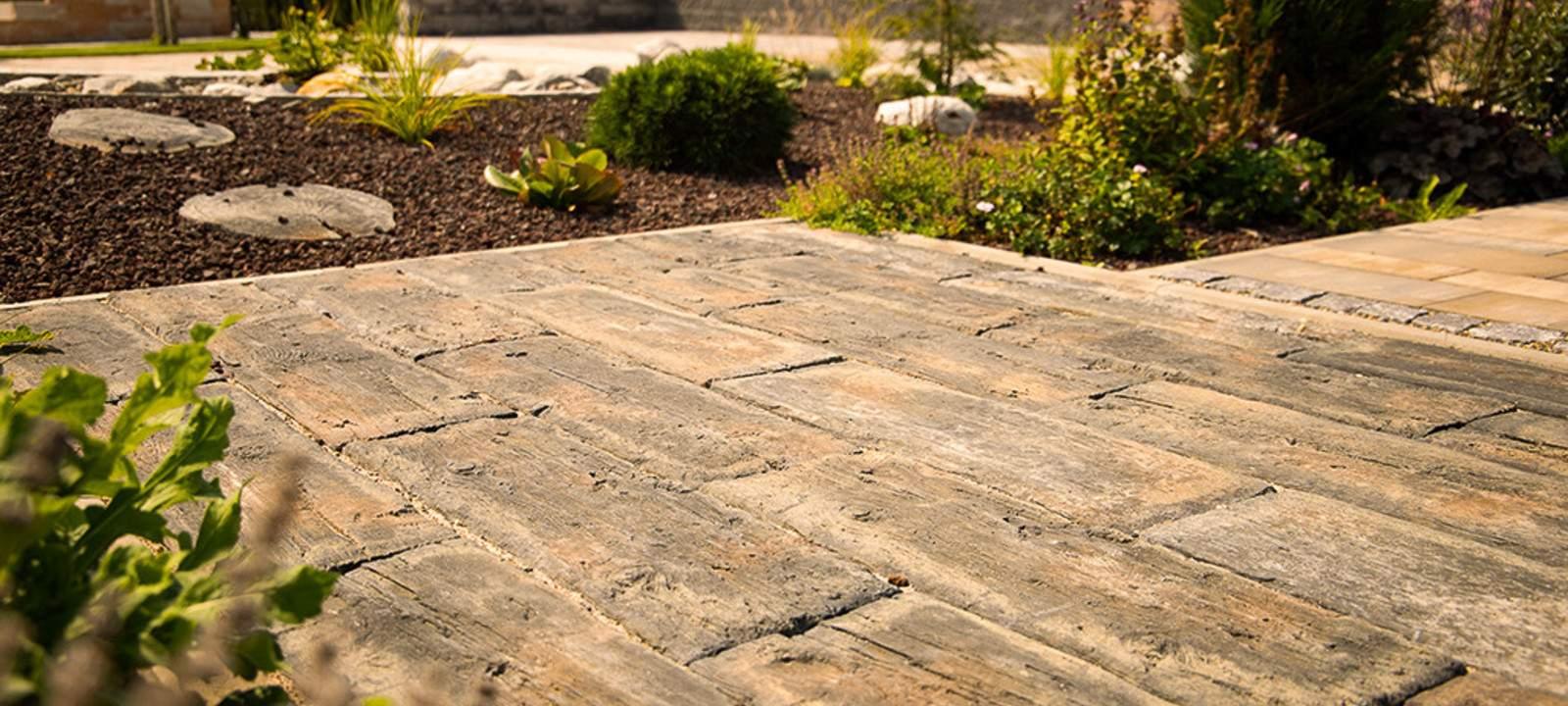 steine holzoptik terrasse landhausstil ehl 2