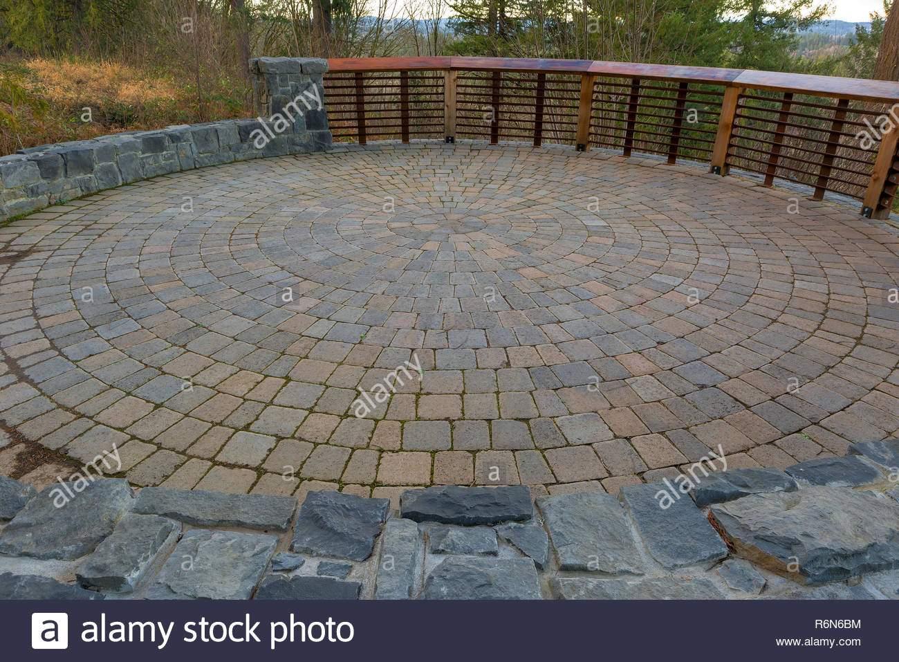 garten garten runden stein fertiger terrasse r6n6bm