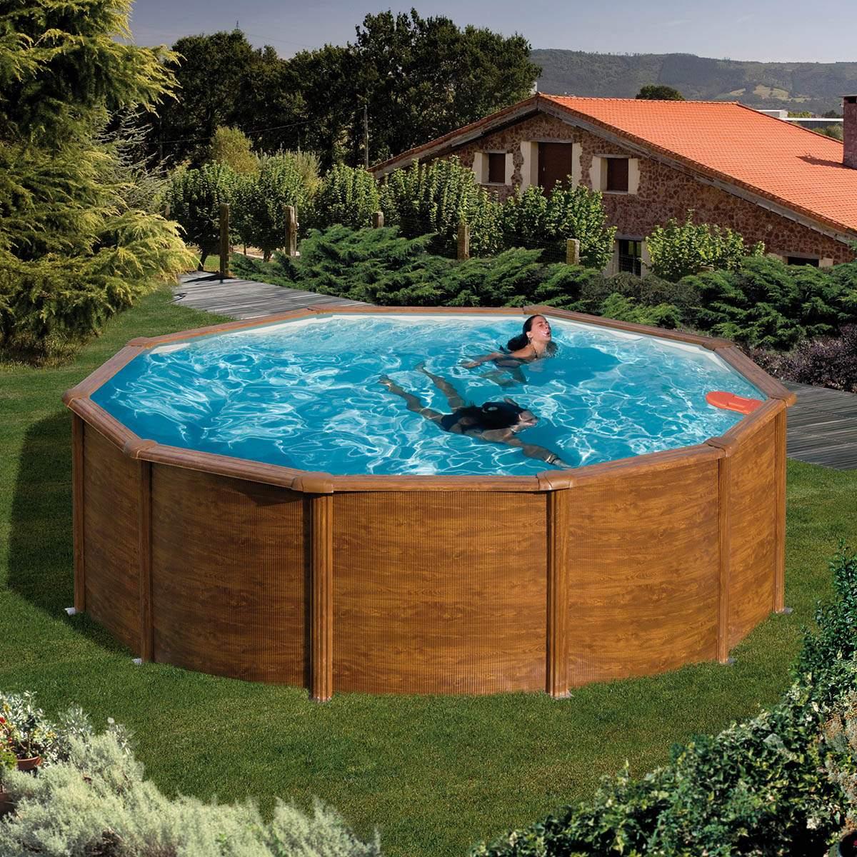 Pool Garten Aufblasbar Inspirierend Rundformbecken Holzoptik 120 Cm Tiefe