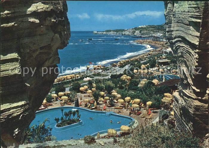 AK Ansichtskarte Forio d Ischia Giardini Terme Poseidon Gaerten der Thermen Felsen Kat