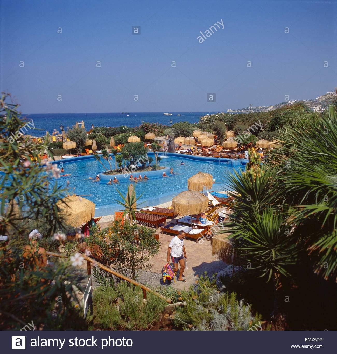 stock photo italien insel ischia forio forio poseidon grten thermalbad