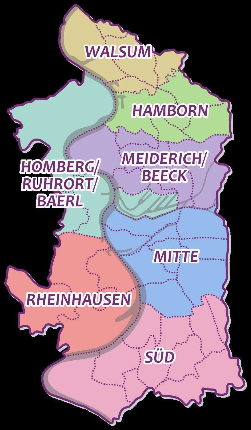 880px Duisburg Karte Bezirkeg