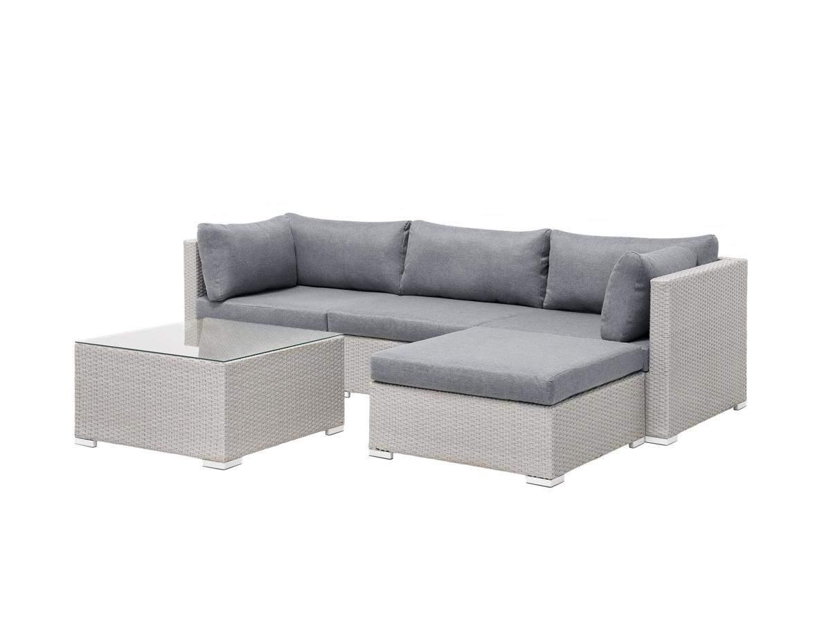 Rattan Gartenm bel Lounge Sitzgarnitur Sun grau 2
