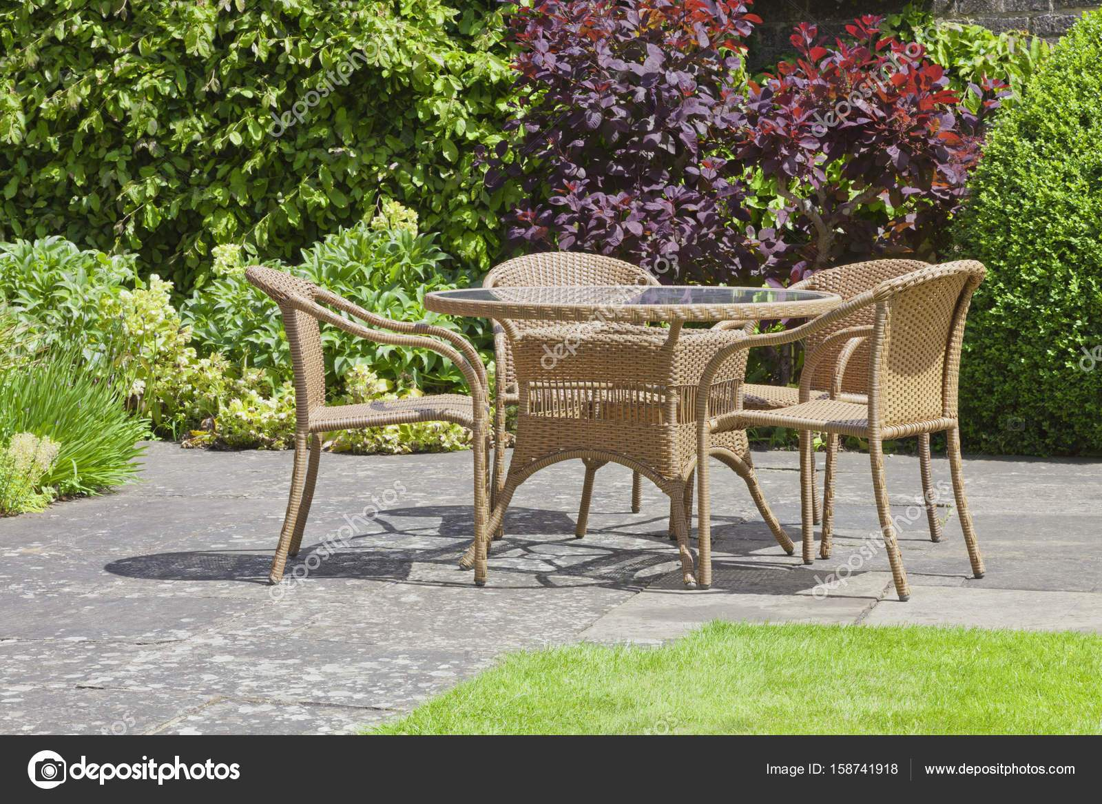 depositphotos stock photo patio chairs and table in