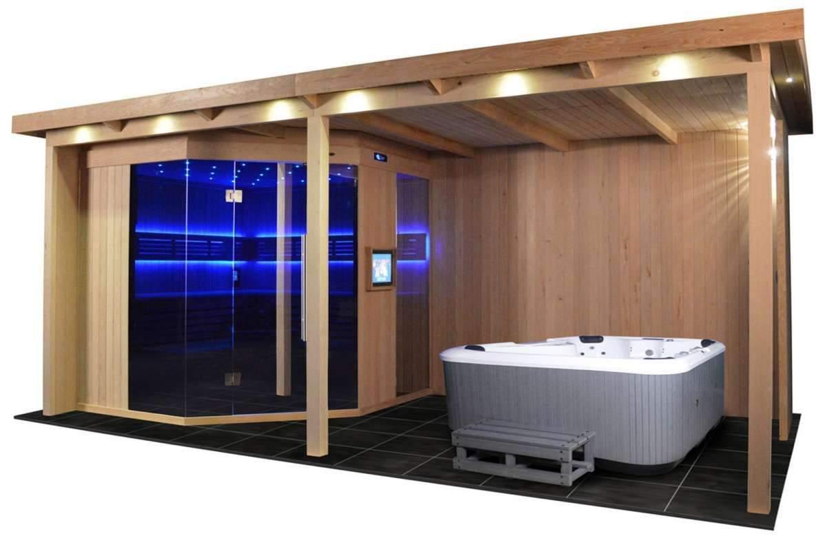 sauna im garten luxus gartensauna gs 4025 vs bio kombiofen 555x280cm of sauna im garten