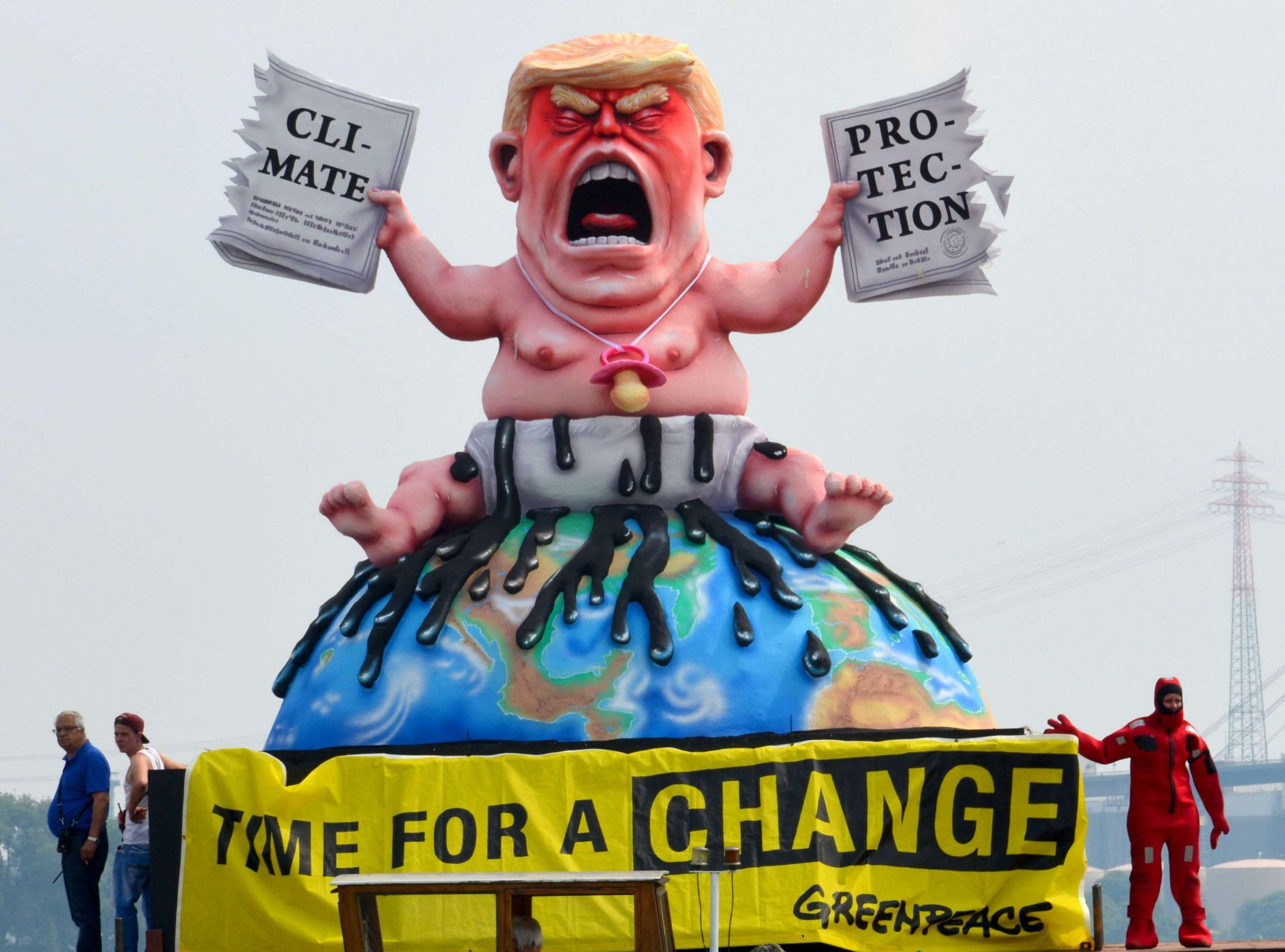 Grossplastik Trump Baby G20 Summit