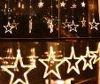 Real Garten Reizend Led Vorhang Mit Beleuchteten Sternen 2 5meter 1meter Warmweiß Für Weihnachten Party Deko Schmuck Fensterdeko Schaufenster Girlande Dekoration