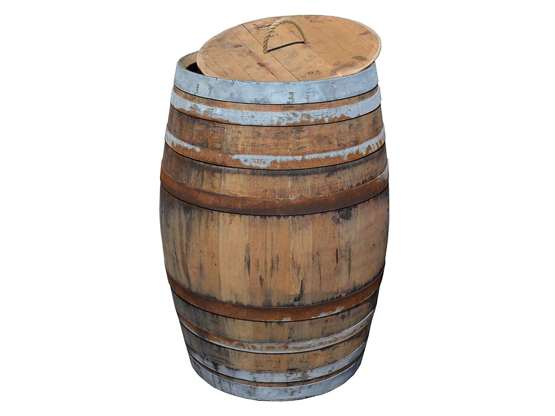 Weinfass Regentonne rustikal mit Deckel Barrique