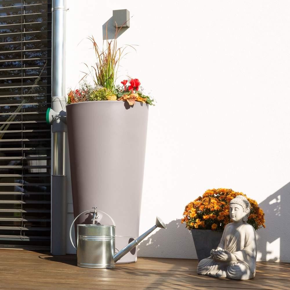 Regentonne 150 Liter Rainbowl Flower taupe