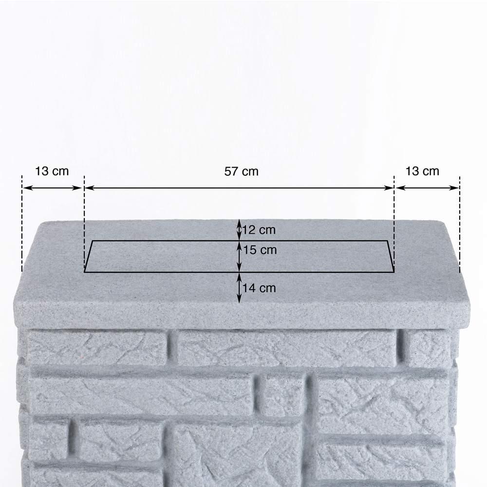 Regentonne Maurano granit Masse Deckel