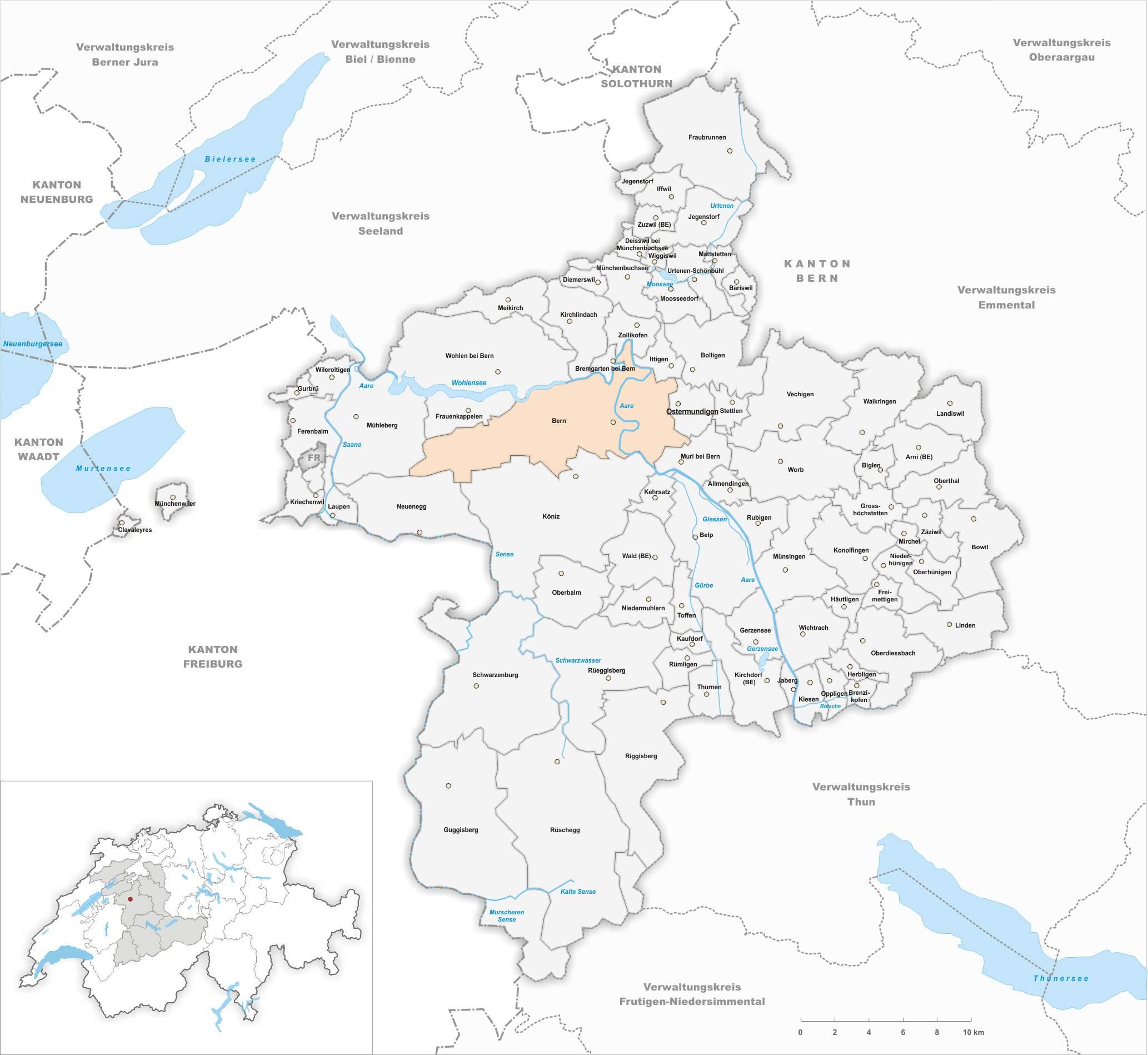 Karte Gemeinde Bern 2020