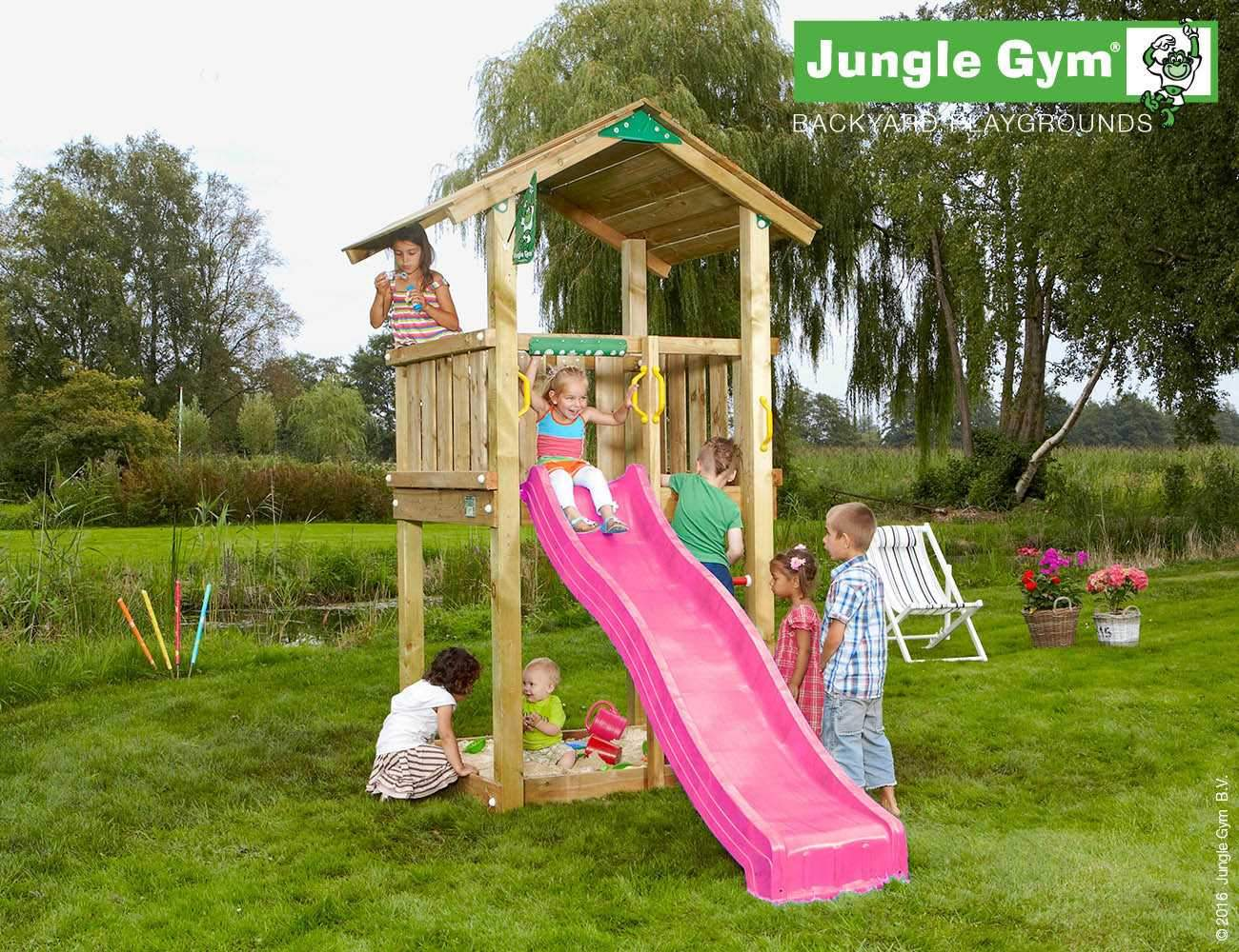 climbing frames for small gardens jungle casa fuchsia