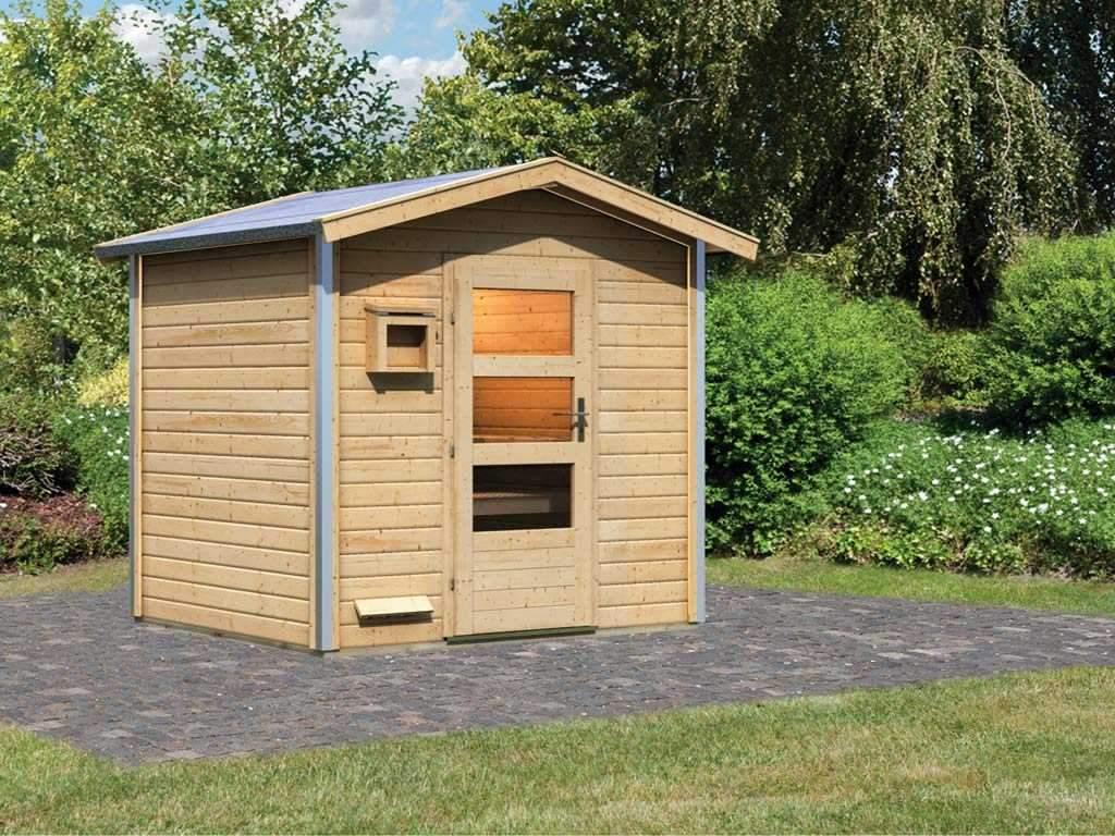 """Sauna Im Garten Luxus Saunahaus """"bosse 1"""" Mit Klarglastür"""