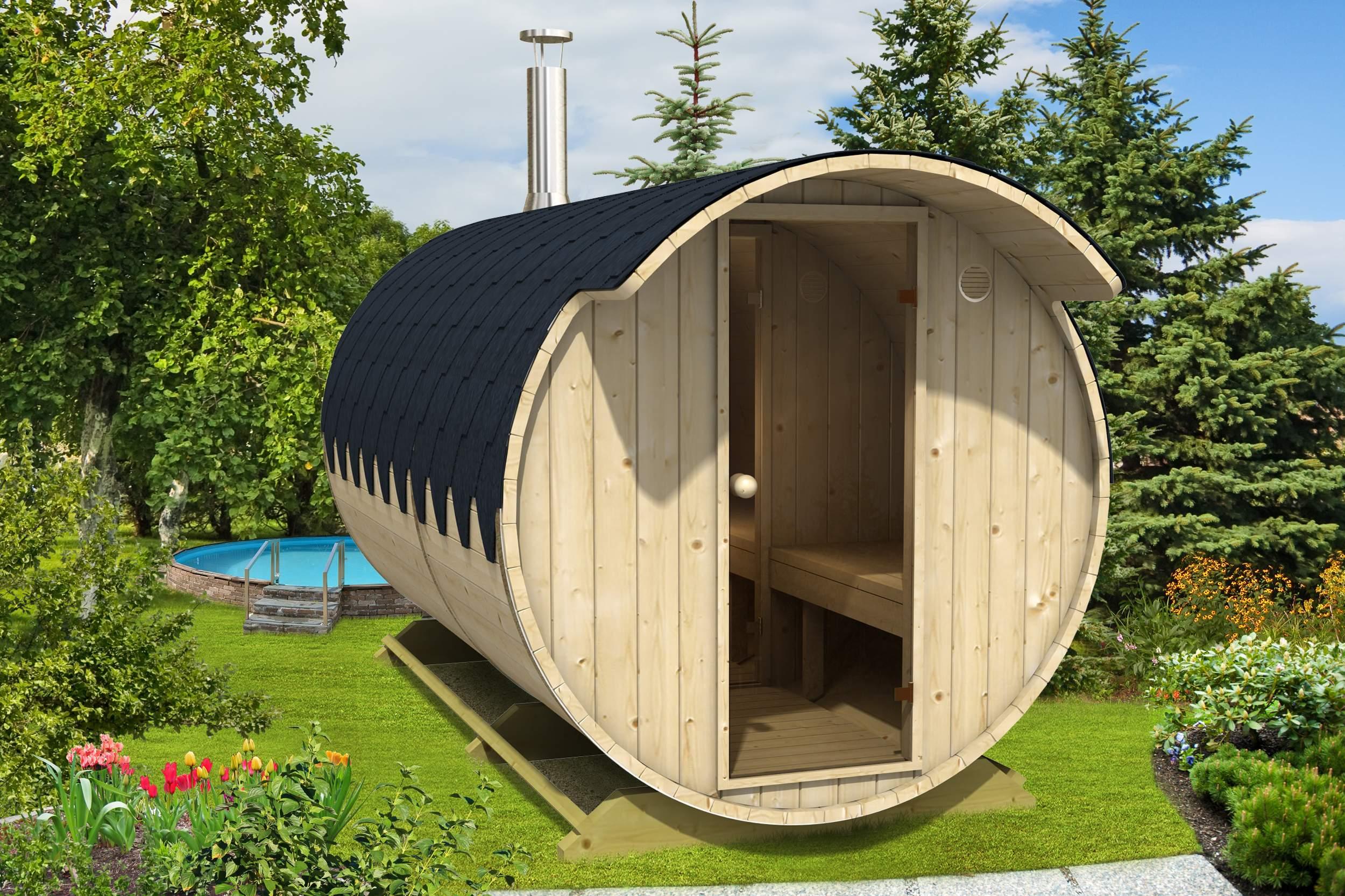 Sauna Im Garten Selber Bauen Elegant Finn therm Fass Sauna Finn