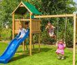 Schaukelgestell Garten Luxus Spielturm Funny 2 Mit Rutsche Doppelschaukel Leiter Dach Und Griffe