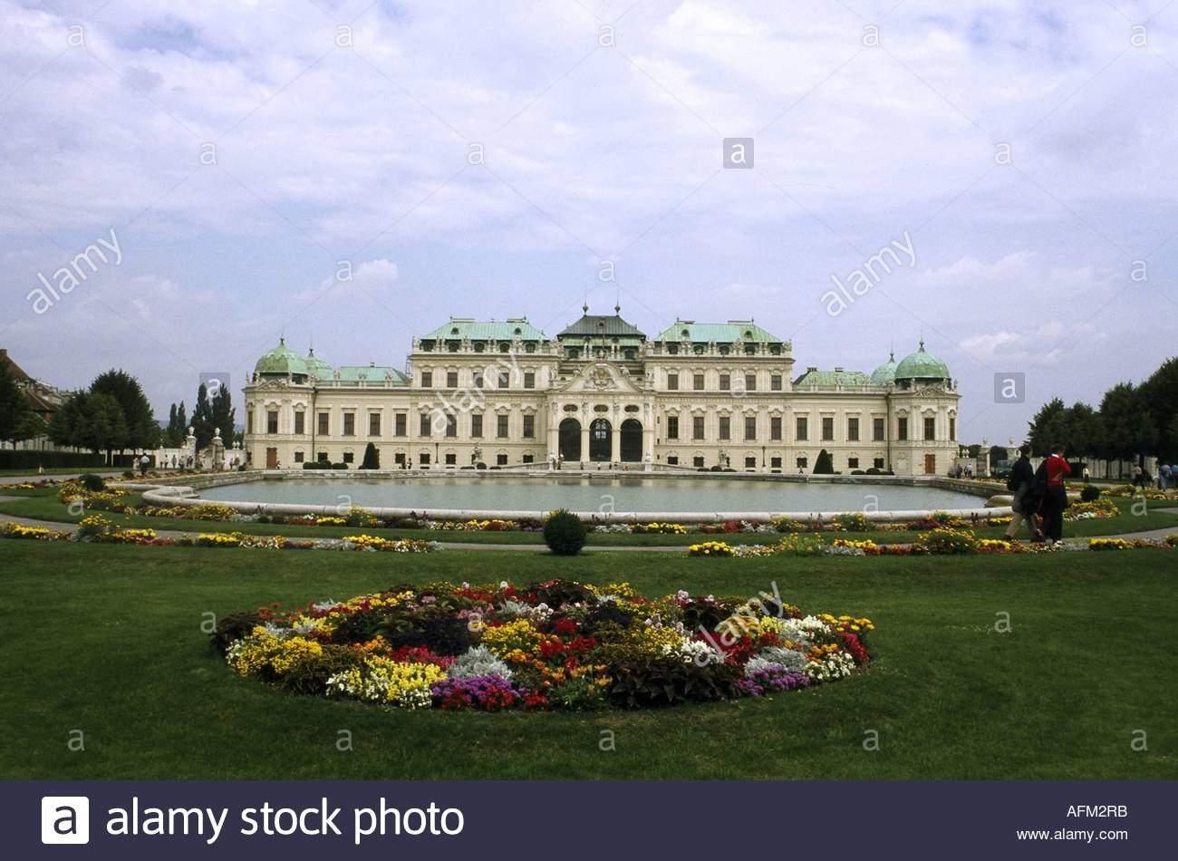 geographiereisen osterreich wien schloss belvedere 1721 1723 von johann lucas von hildebrandt aussenansicht fur princ gebaut afm2rb