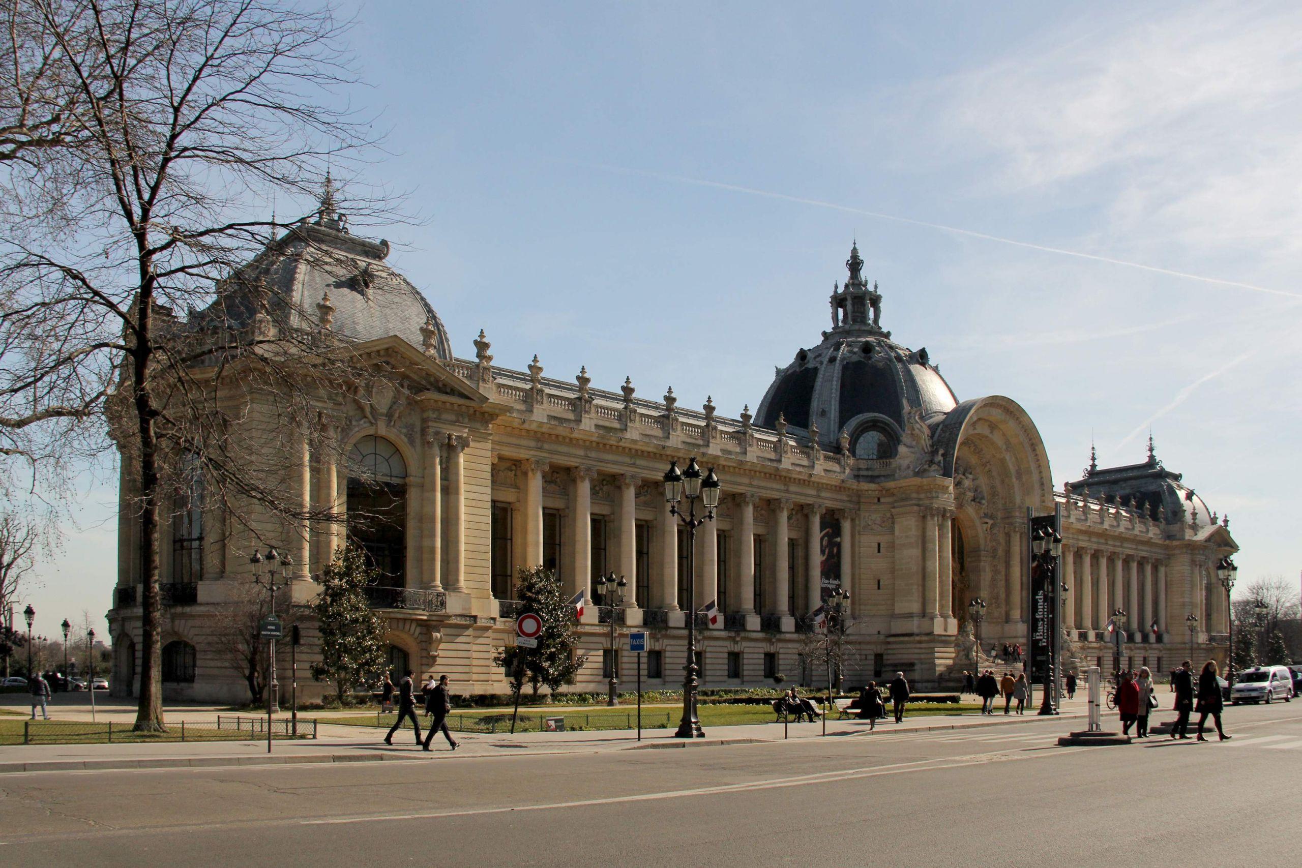 Facade of Petit Palais Paris 6 March 2015