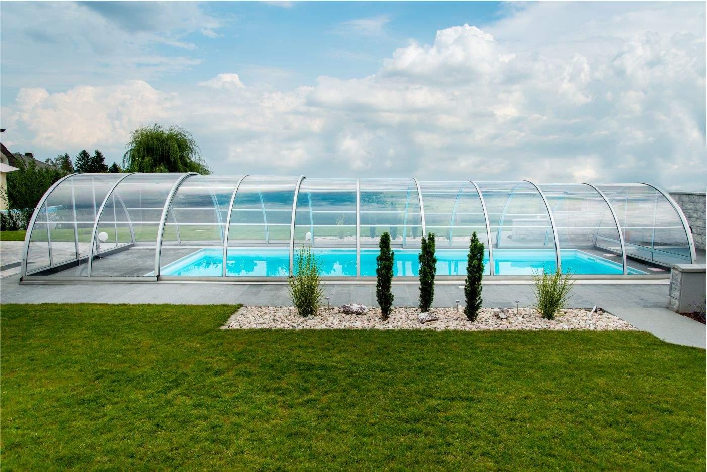 Schwimmbecken Garten Schön Schwimmbad überdachung Praktik