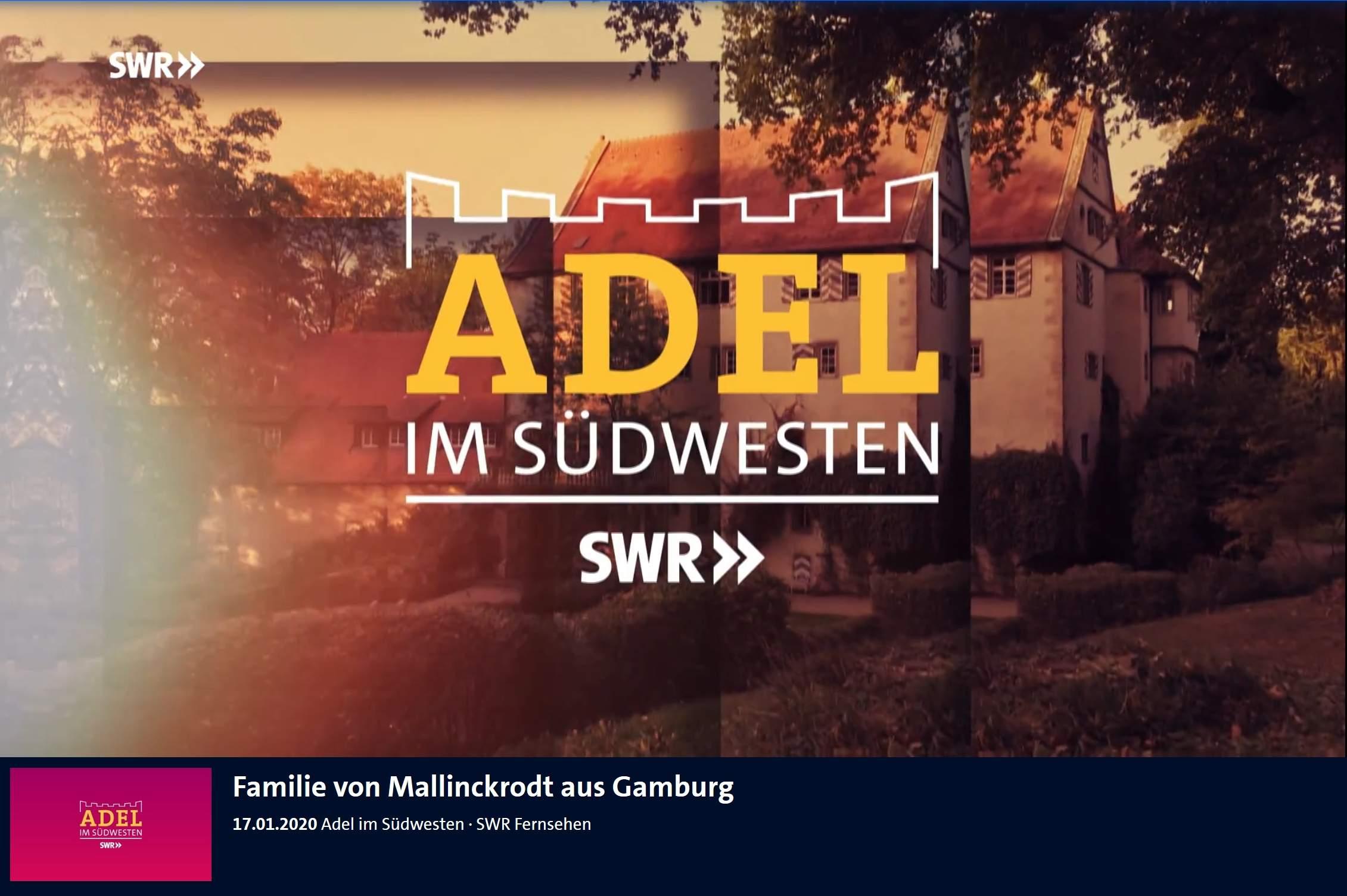 Ferienwohnung Eventlocation Bahnhof Gamburg Liebliches Taubertal ARD SWR Adel im Suedwesten Familie von Mallinckrodt aus Gamburg