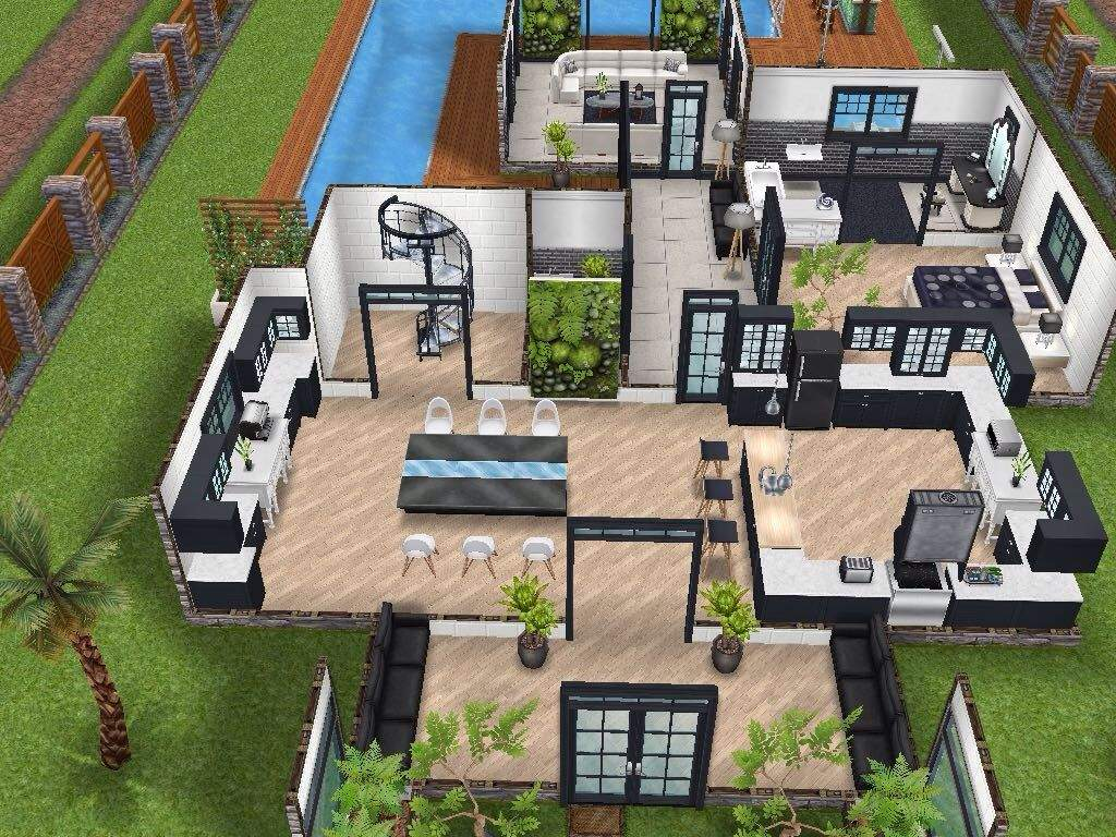 Sims 3 Design Garten Accessoires Schön House 77 Ground Level Sims Simsfreeplay Simshousedesign