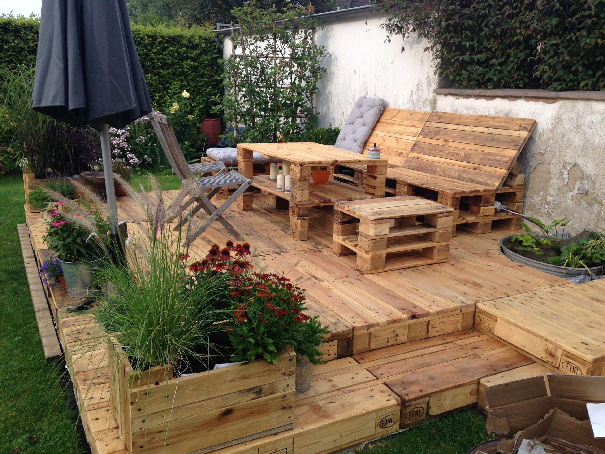 Sitzecke Garten Holz Frisch Terasse Aus Paletten Der sommer Steht Vor Der Tür Und Der