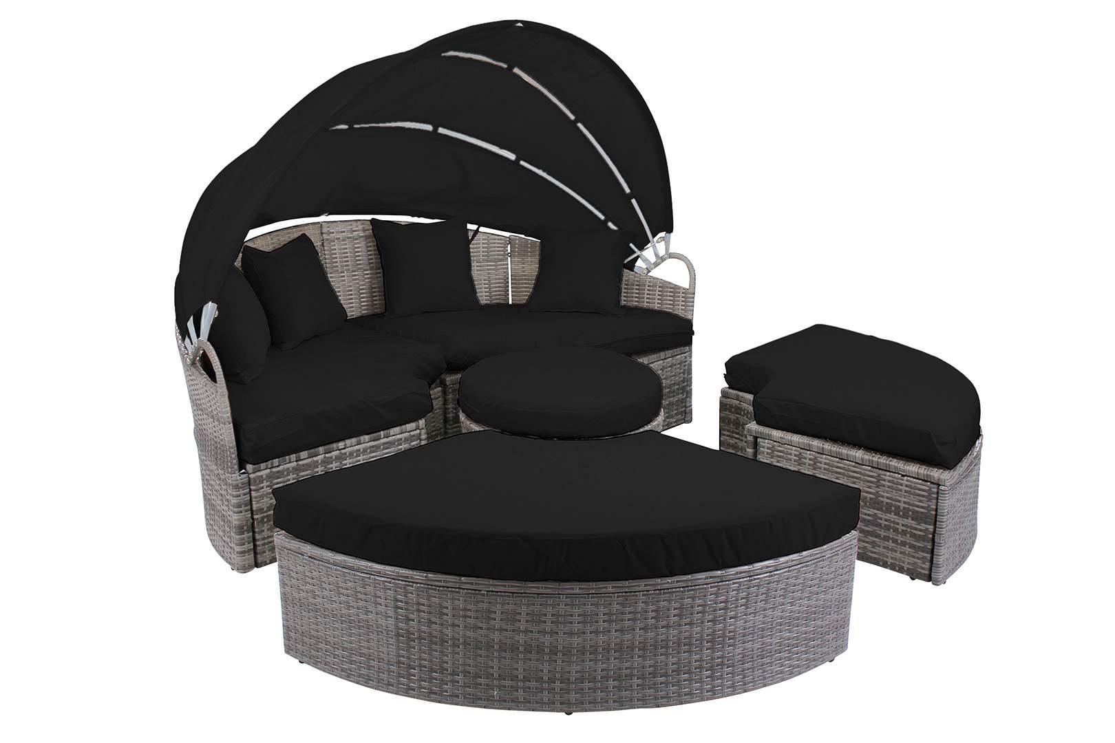Miweba Rattan Lounge Paradise 180 Grau D3034 startbild schwarz OL 1620x1080