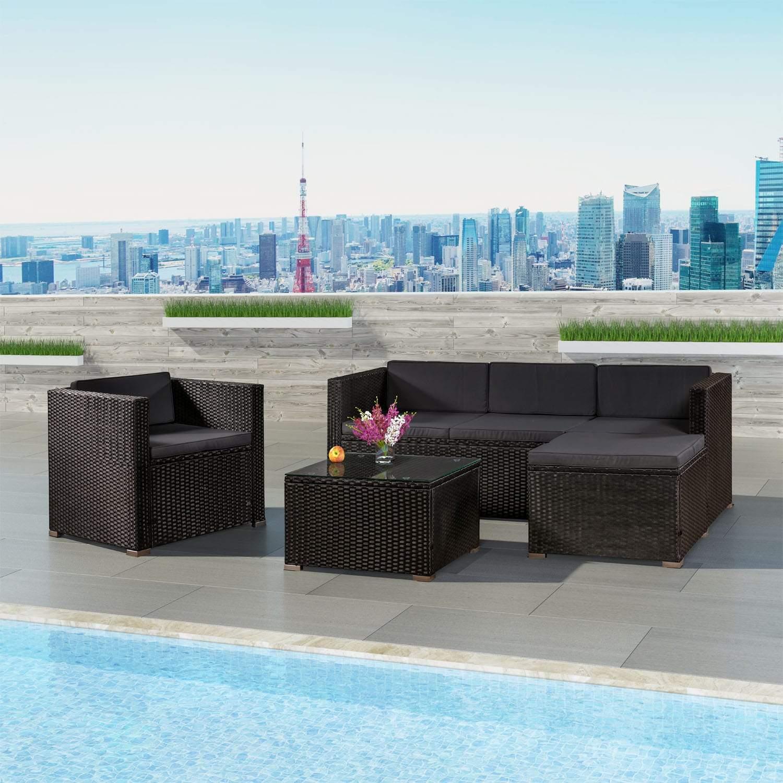 Poly Rattan Lounge Set Sitzgruppe Sitzgarnitur Sofa Gartenm bel min