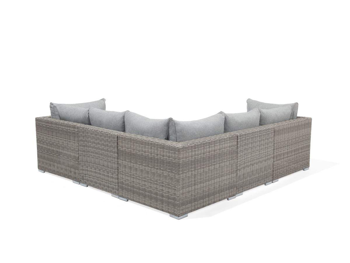 """Sitzgruppe Garten Rattan Frisch Rattan Gartenmöbel Set """"selina"""" Sitzgruppe Rattanlounge Für Garten Terrasse Balkon Couch Rattanmöbel Grau Braun"""