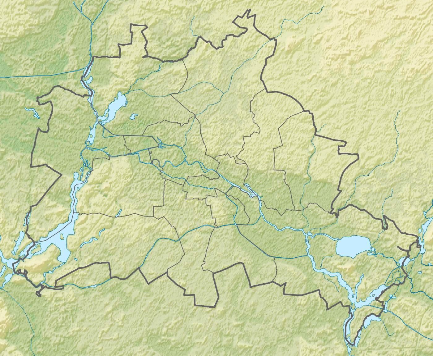 Berlin relief location map