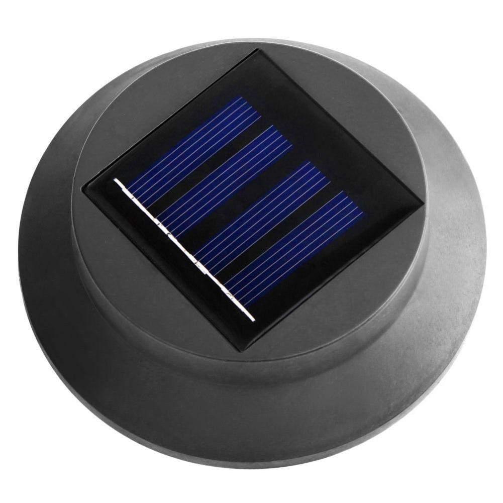 3 LED Solar Lampe Gutter Wei es Licht Zaun Garten Licht ON OFF Au enbeleuchtung Yard