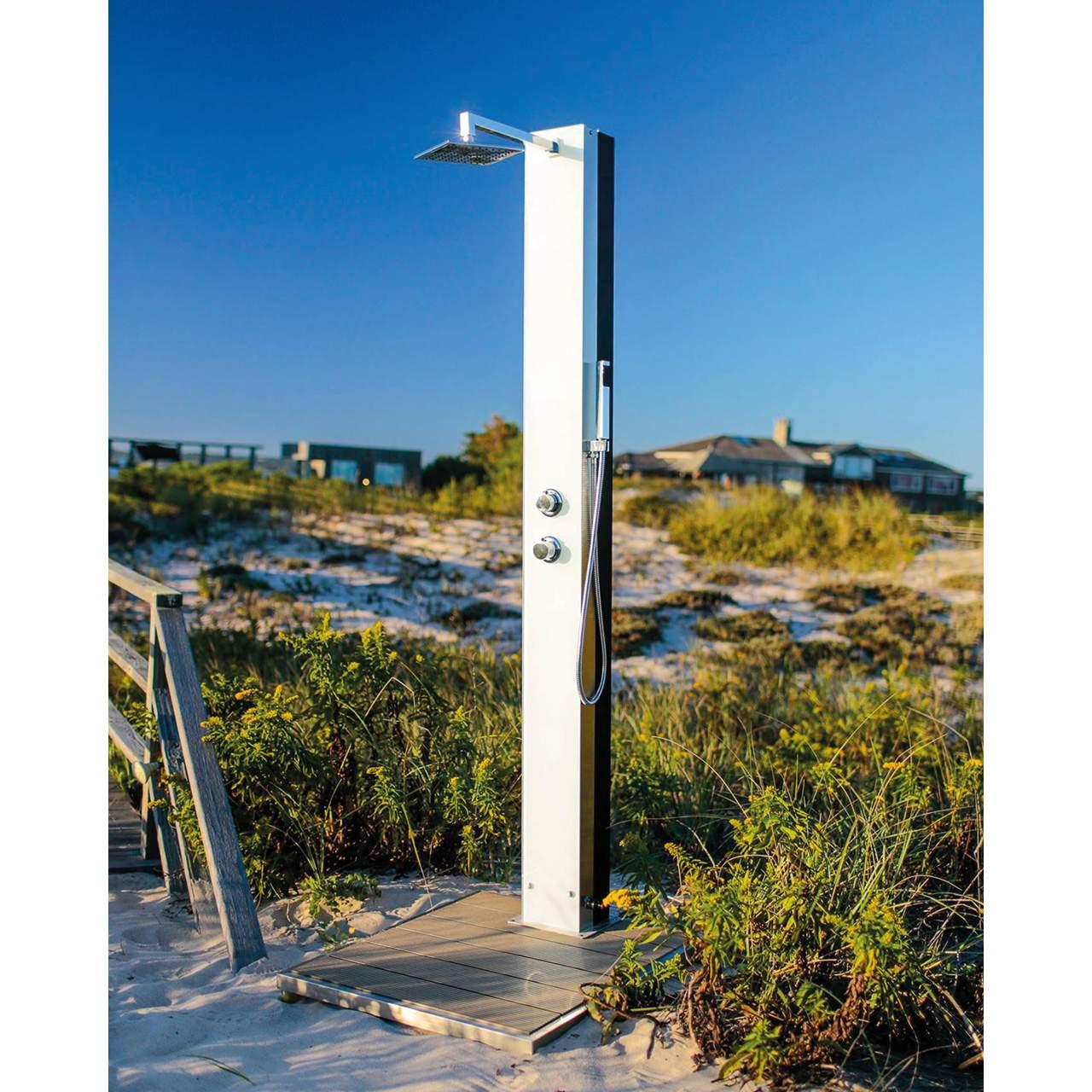 dusche modell 70 glas solar tobago weiss